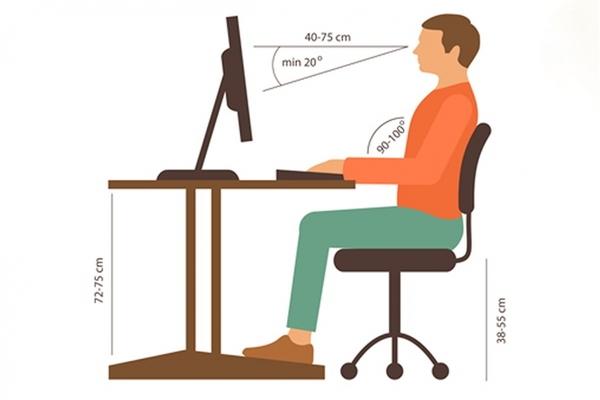 Tư thế ngồi làm việc phù hợp giúp hạn chế tình trạng đau vai gáy