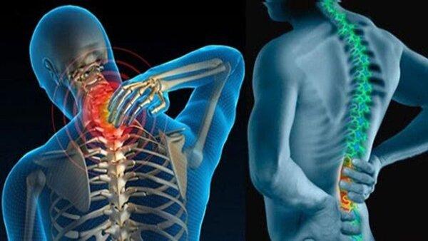 Đau buốt ở vùng thắt lưng và cổ là dấu hiệu thường gặp