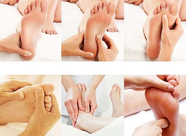 Cách bấm huyệt bàn chân