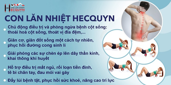 Con lăn nhiệt Hecquyn - Dụng cụ chữa thoái hóa đốt sống cổ an toàn, hiệu quả