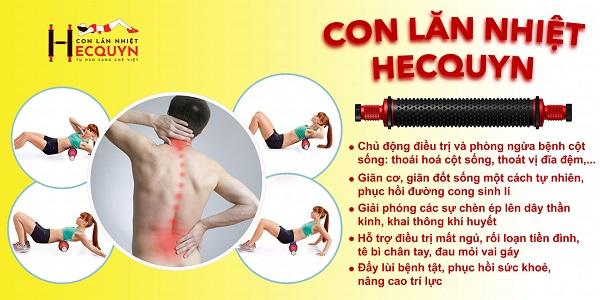 Phương pháp kéo giãn cột sống cổ và lưng bằng con lăn nhiệt